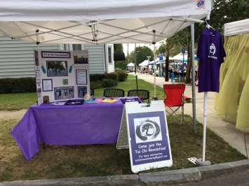 Tai Chi Revolution's booth; Westcott, 2017 (photo by EF)